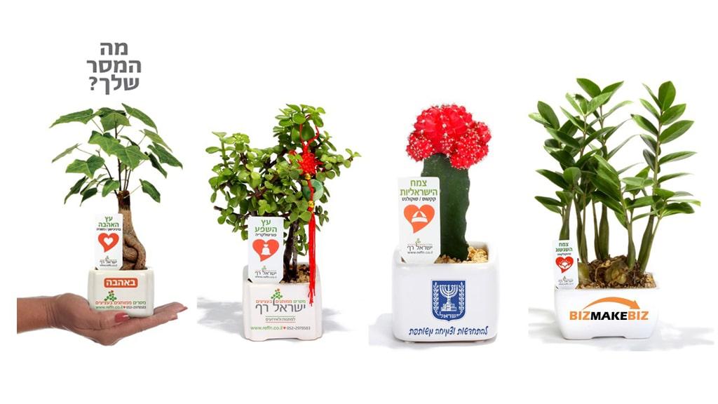 עציצים ממותגים, מוצרי פרסום, מתנות לכנסים