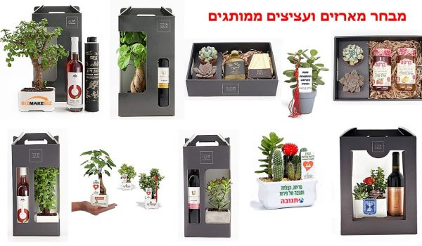 מתנות לראש השנה, מארזי שי, עציצים ממותגים, מתנות לעובדים, מארזי שי לחג